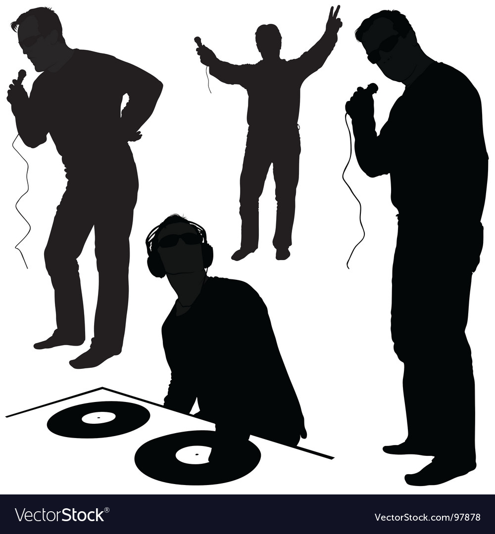 Dj silhouettes vector | Price: 1 Credit (USD $1)