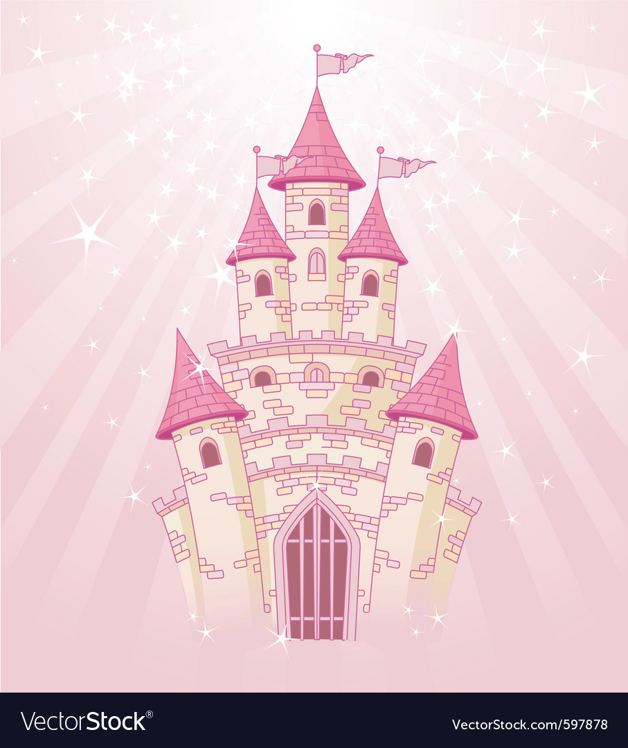 Fairy tale princess castle vector | Price: 1 Credit (USD $1)