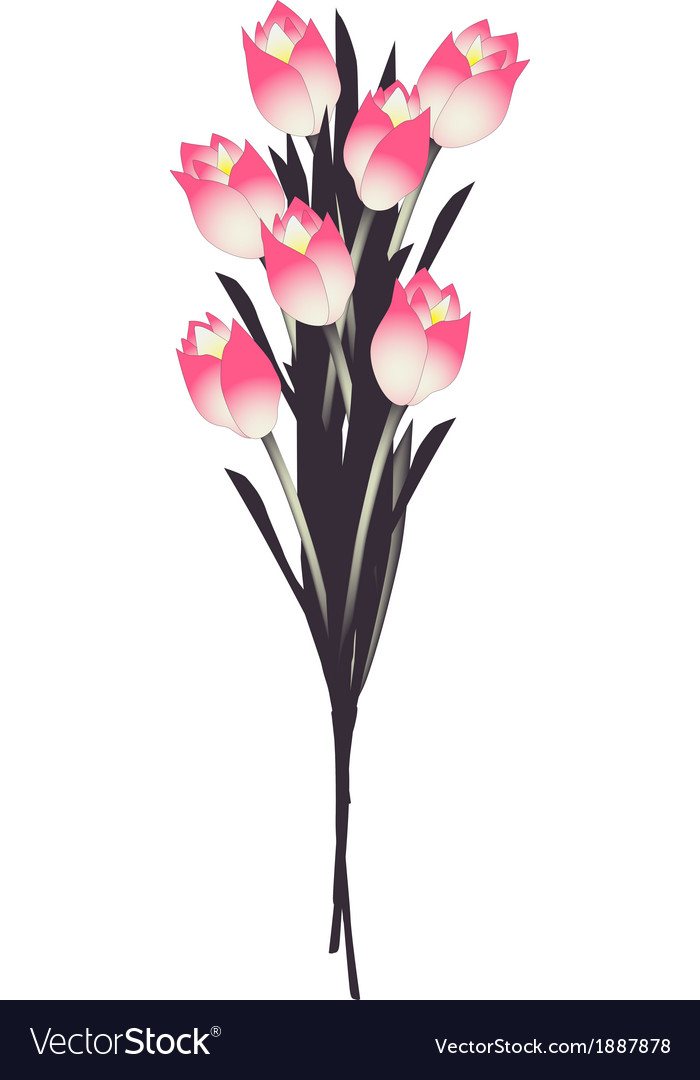 Floral background with tulips vector | Price: 1 Credit (USD $1)
