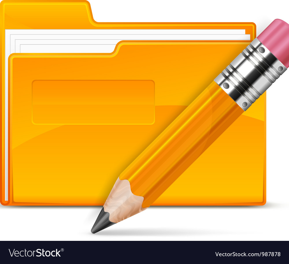 Folder and pencil vector | Price: 1 Credit (USD $1)