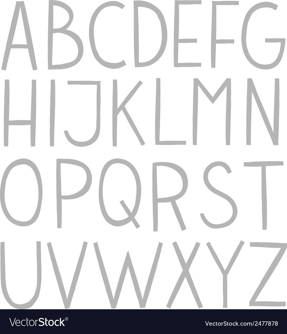 Hand draw full alphabet vector | Price: 1 Credit (USD $1)