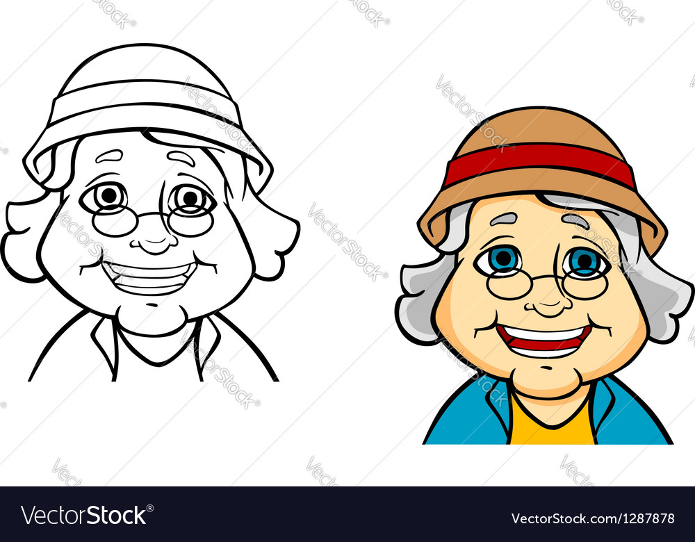 Happy senior grandmother vector | Price: 3 Credit (USD $3)