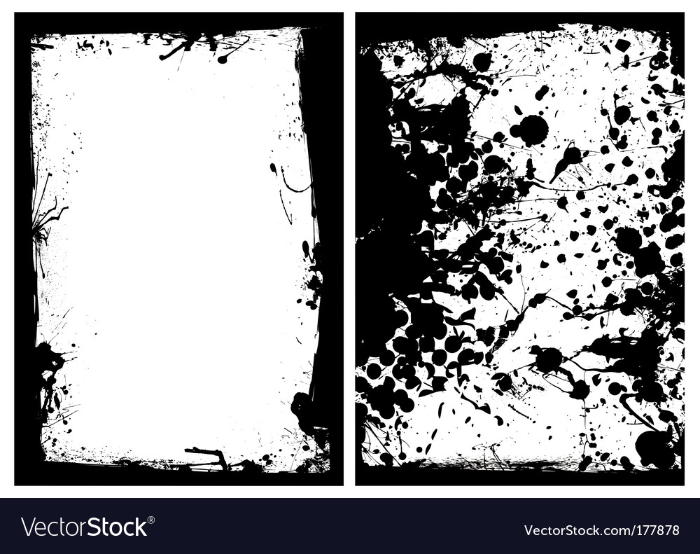 Ink grunge black splat border vector | Price: 1 Credit (USD $1)