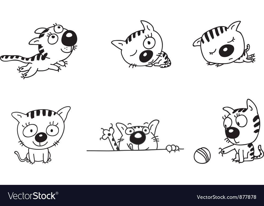 Kitten vector | Price: 1 Credit (USD $1)