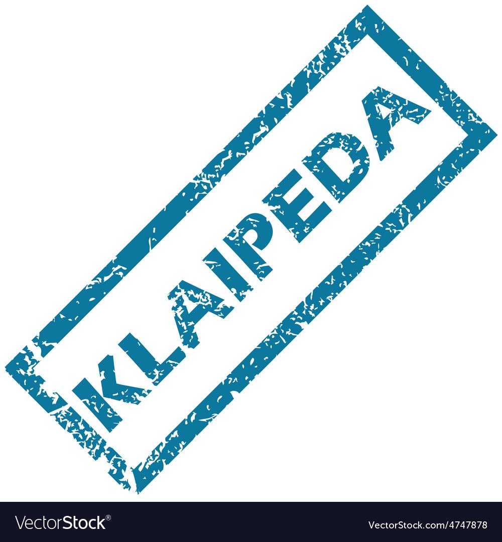 Klaipeda rubber stamp vector | Price: 1 Credit (USD $1)