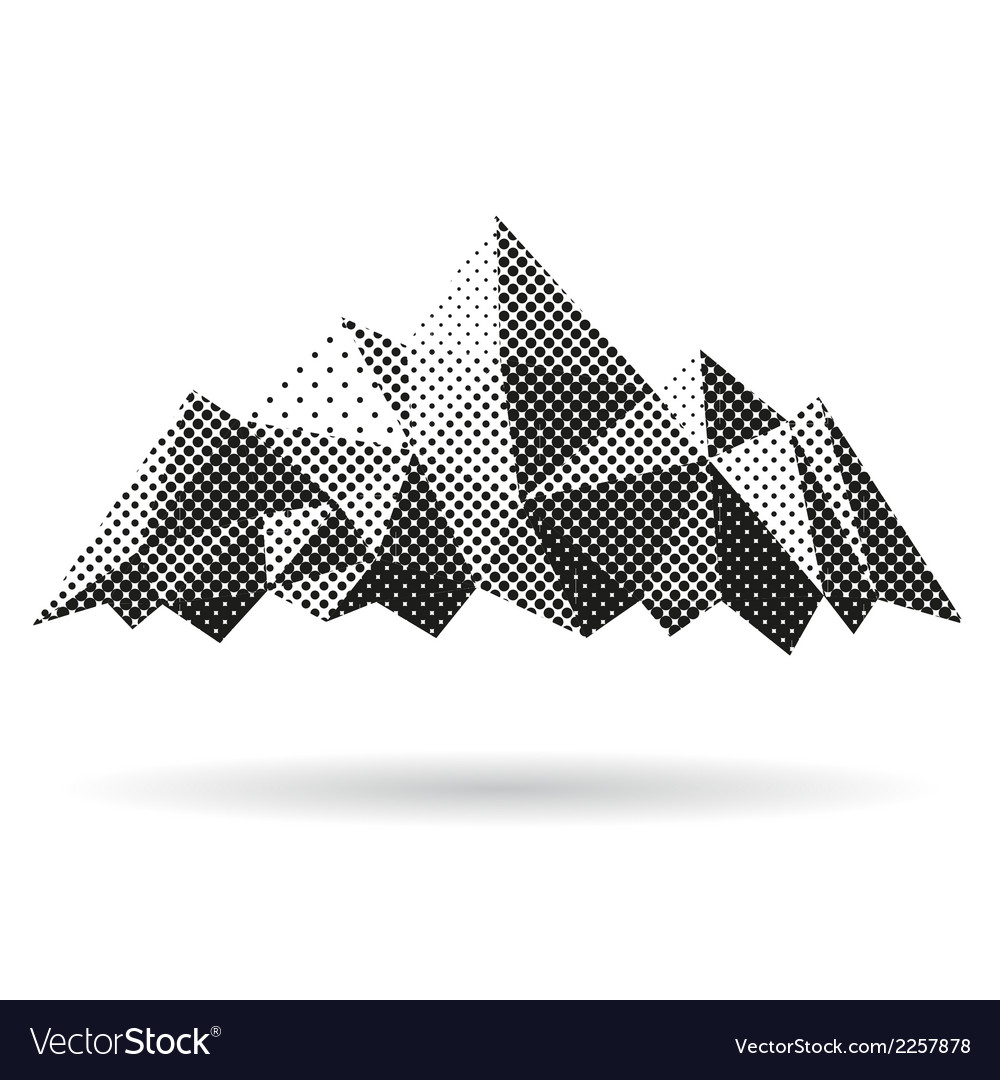 Mountain abstract isolated vector | Price: 1 Credit (USD $1)