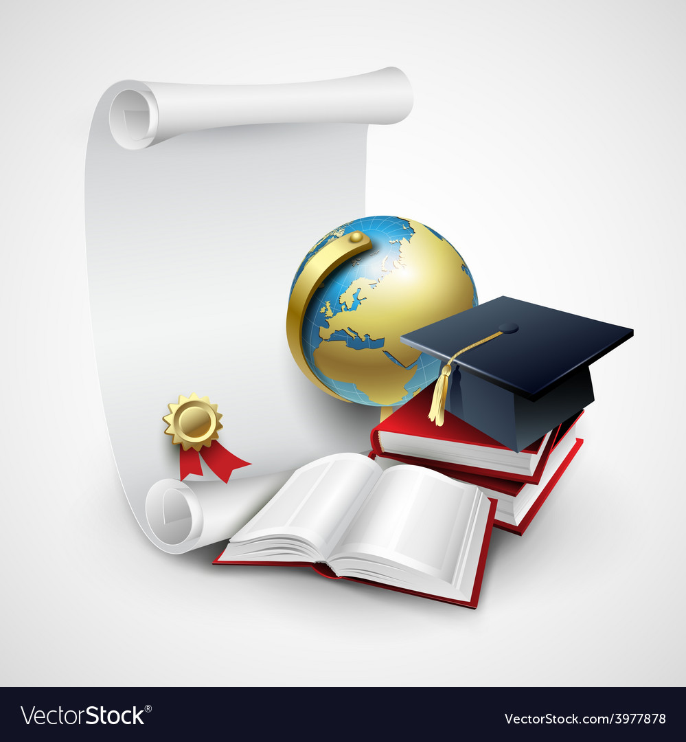 Objects for graduation ceremony vector | Price: 3 Credit (USD $3)