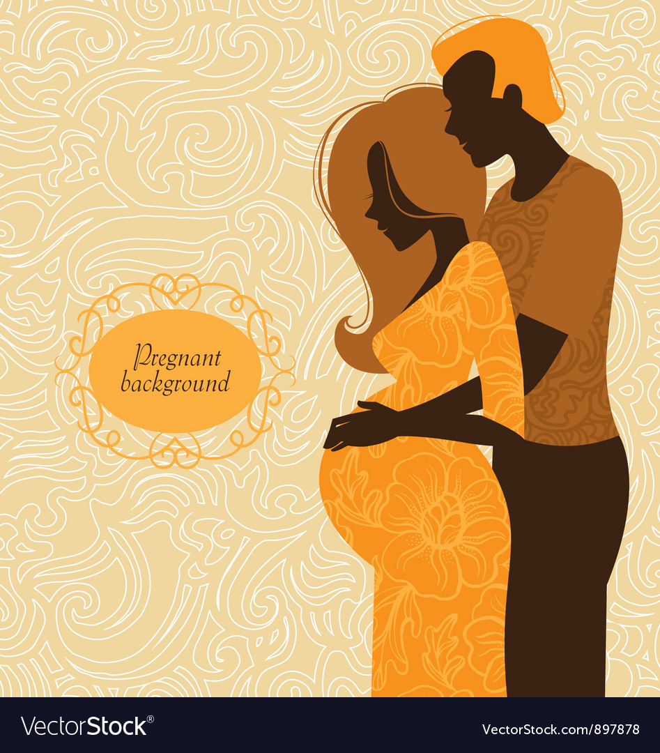 Silhouette of couple vector | Price: 1 Credit (USD $1)
