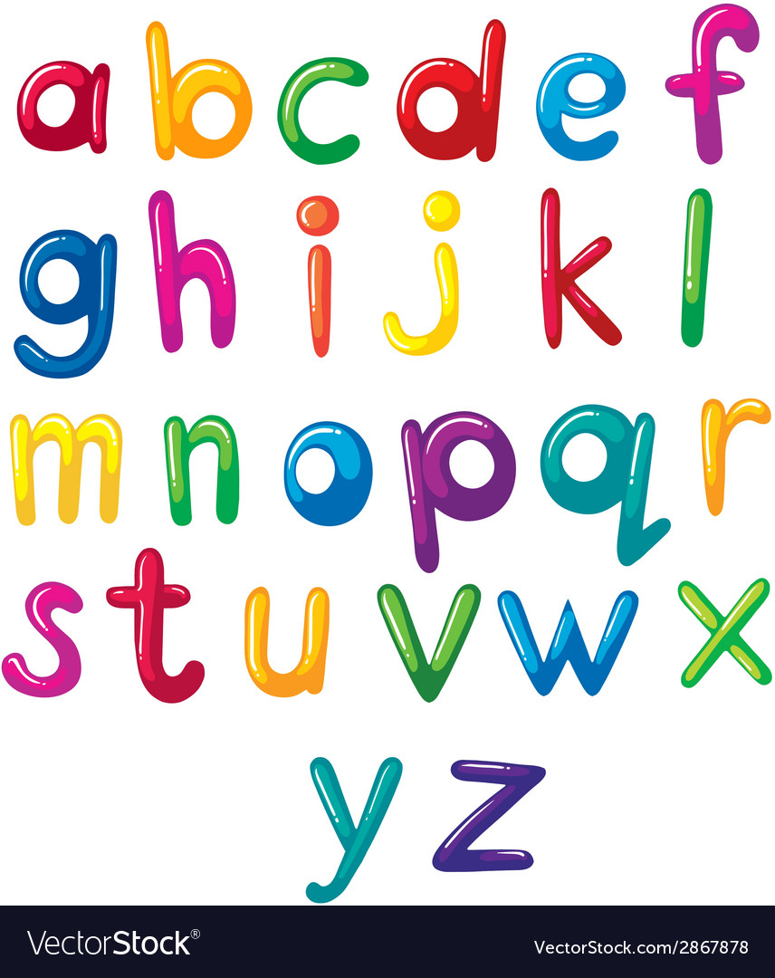 Small letters of the alphabet vector | Price: 1 Credit (USD $1)