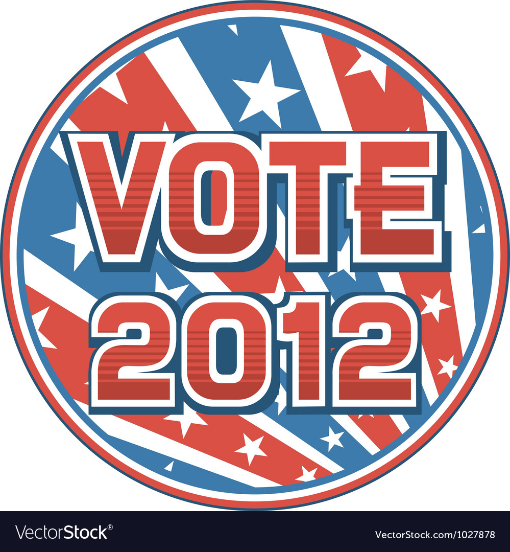 United states of america elections pins 2012 vector   Price: 1 Credit (USD $1)