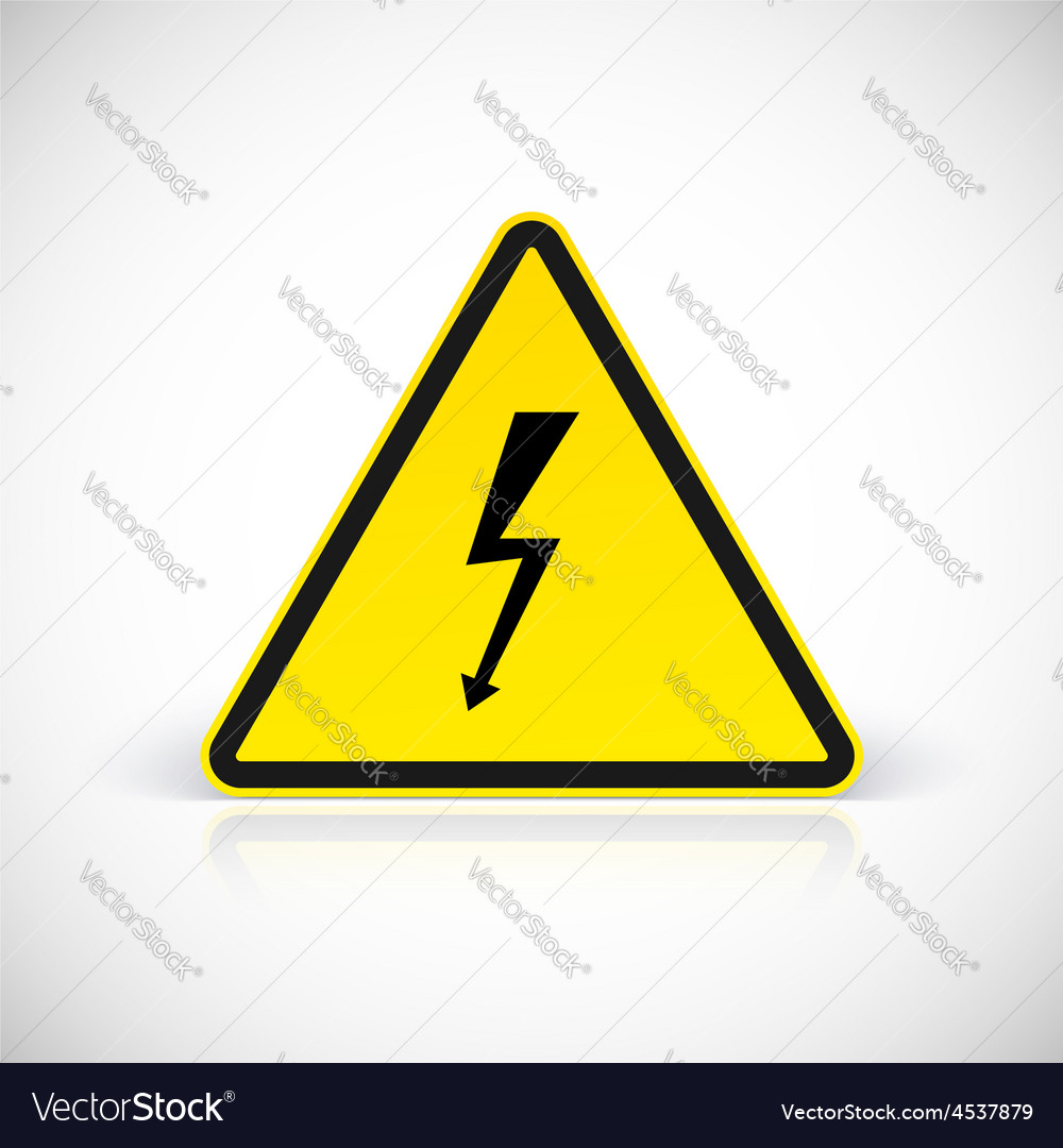 Attention electric shock signs vector | Price: 1 Credit (USD $1)