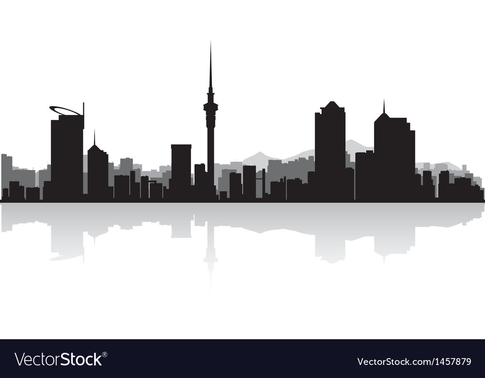Auckland city skyline silhouette vector | Price: 1 Credit (USD $1)