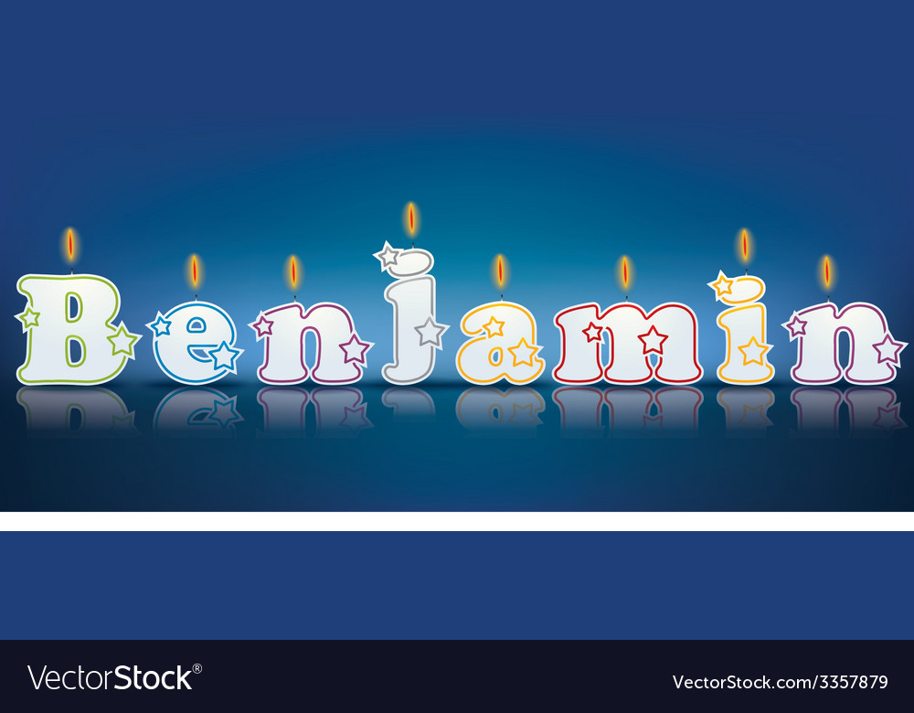 Benjamin written with burning candles vector | Price: 1 Credit (USD $1)