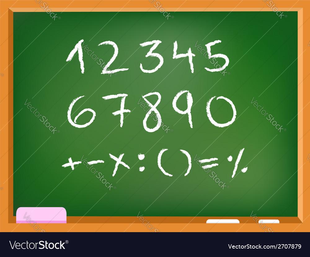 Chalkboard numbers vector