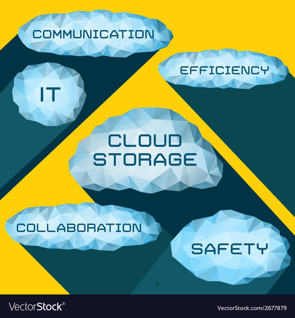 Cloud storage vector   Price: 1 Credit (USD $1)