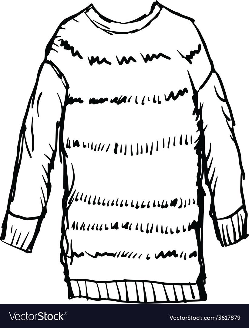 Female winter pullover vector | Price: 1 Credit (USD $1)