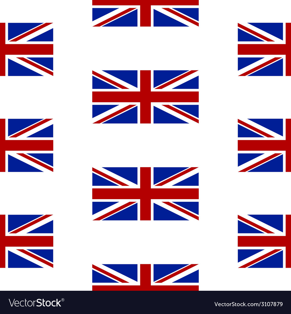Flag of the united kingdom seamless pattern vector | Price: 1 Credit (USD $1)