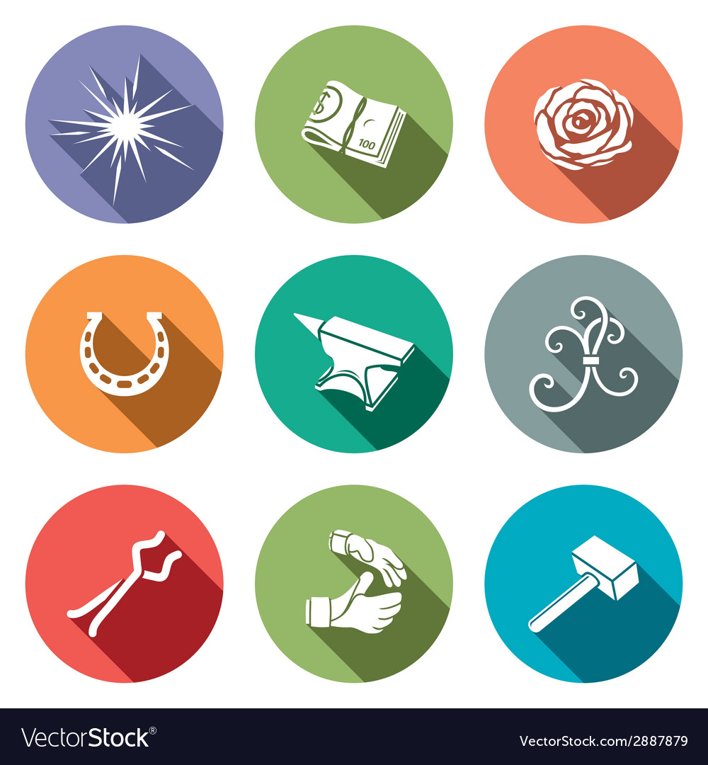 Forge icon set vector | Price: 1 Credit (USD $1)