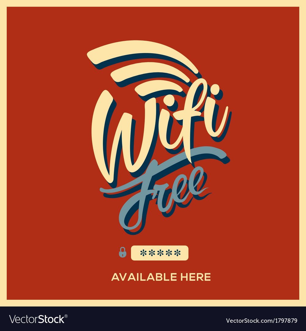 Free wifi symbol retro style vector | Price: 1 Credit (USD $1)
