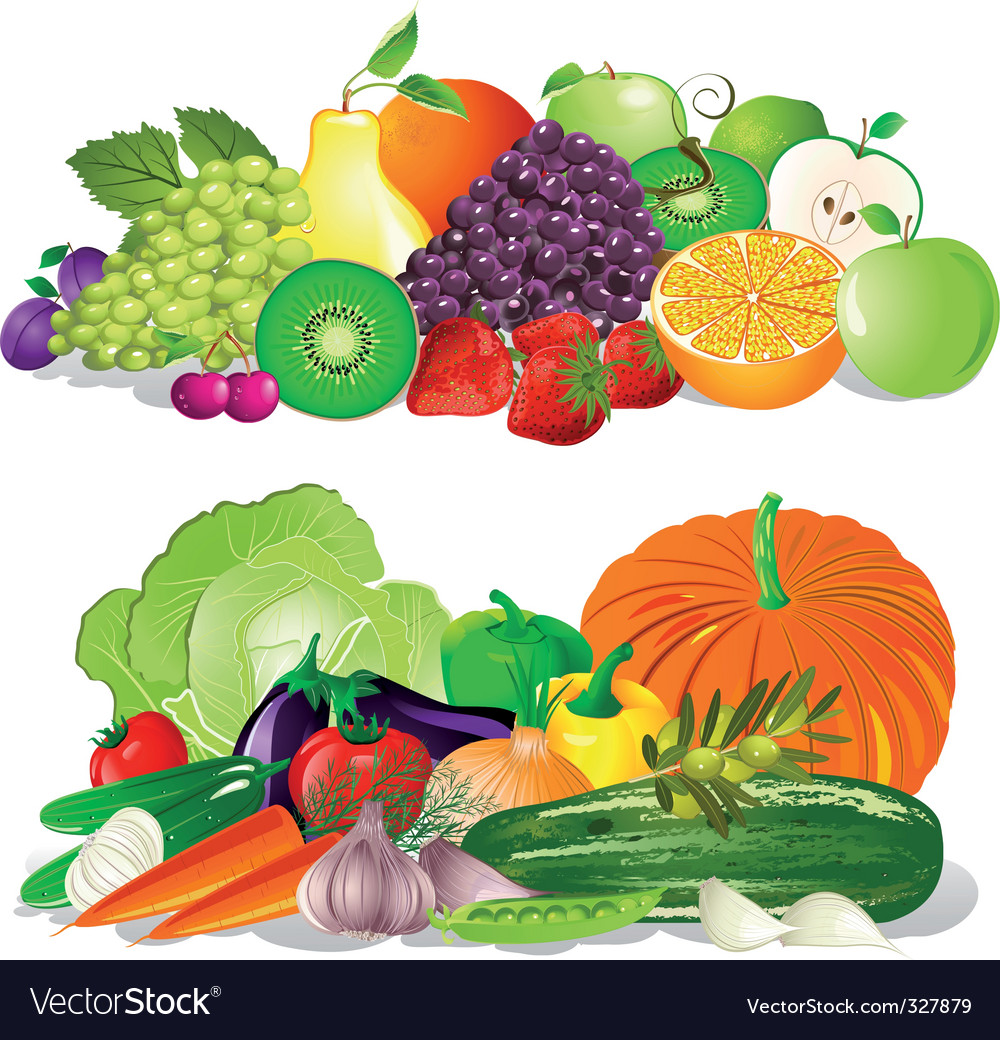 Fruit and vegetables vector | Price: 1 Credit (USD $1)