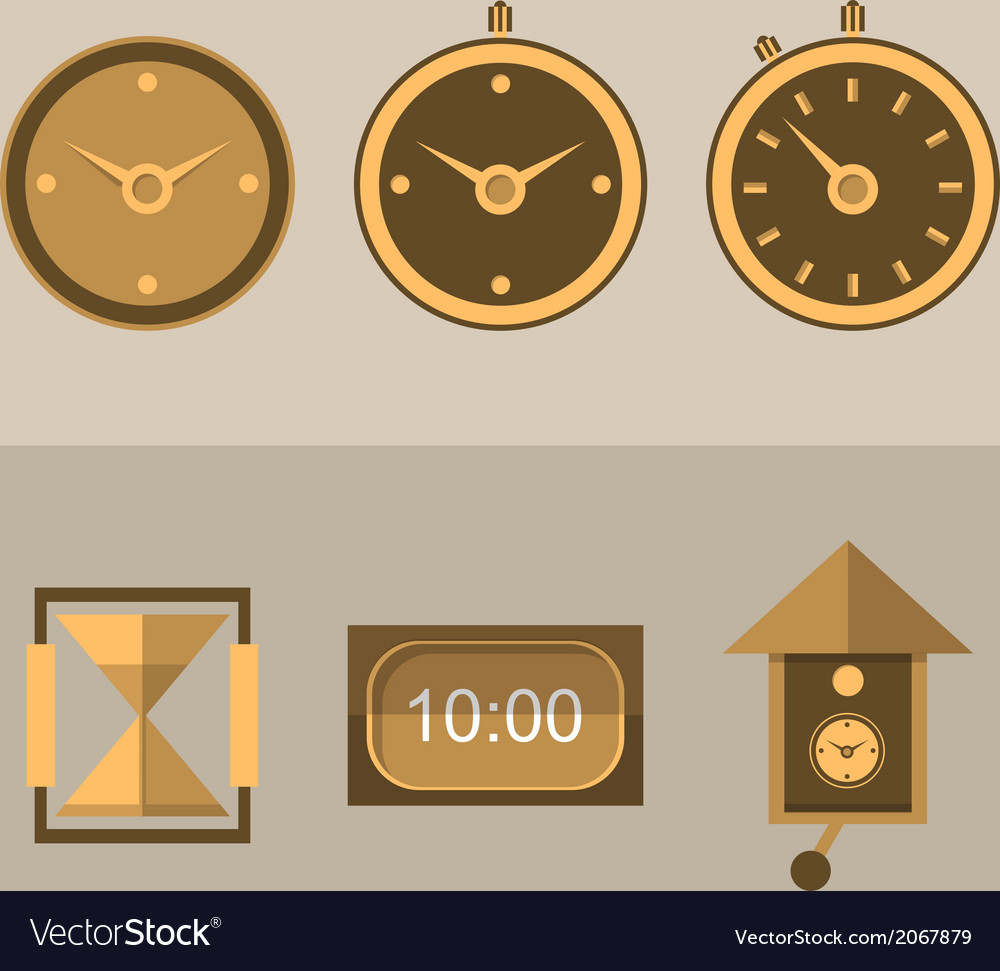 Icons for clocks vector | Price: 1 Credit (USD $1)