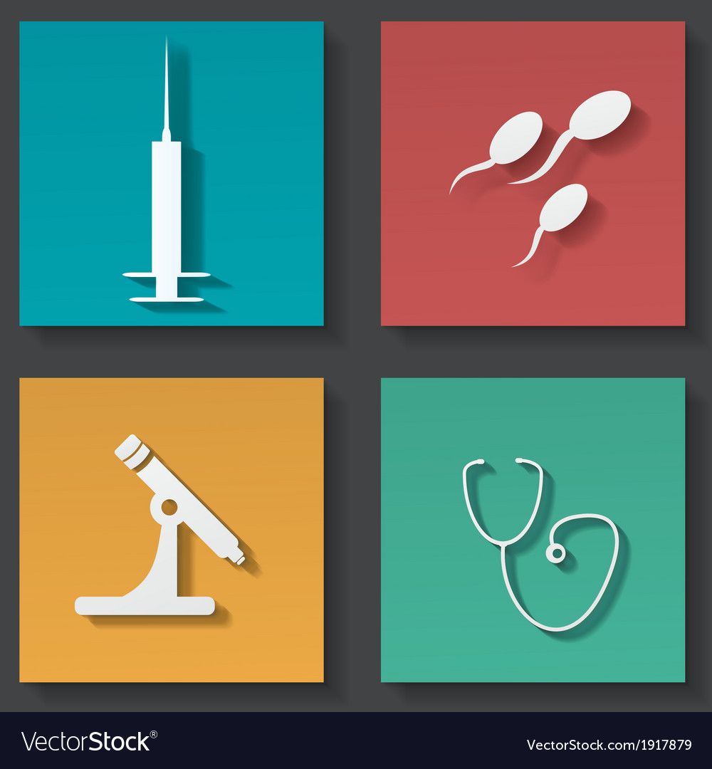 Medical sticker icons set vector | Price: 1 Credit (USD $1)