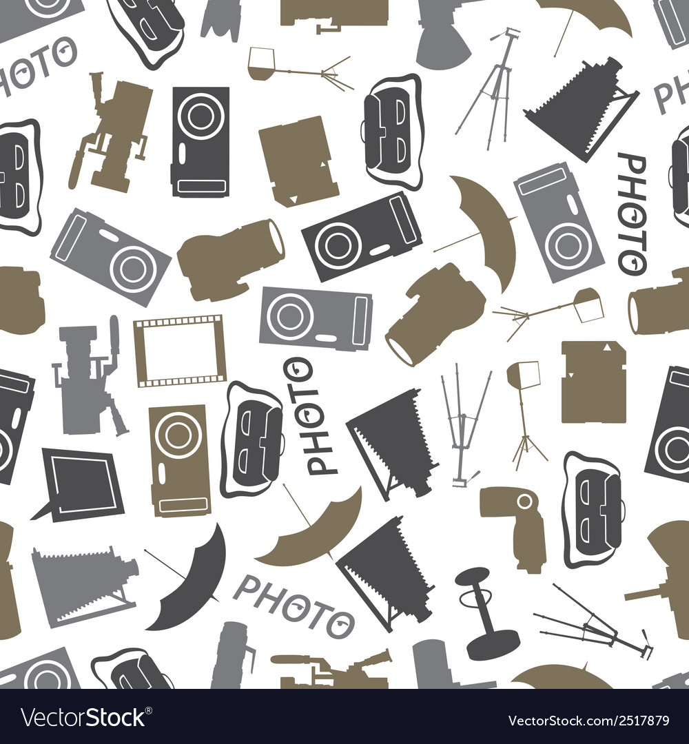 Photographic icon color pattern eps10 vector | Price: 1 Credit (USD $1)