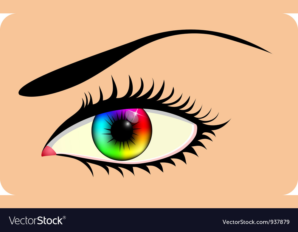 Rainbow eye vector | Price: 1 Credit (USD $1)