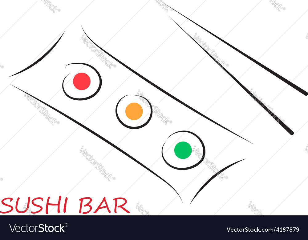 Sushi bar vector | Price: 1 Credit (USD $1)
