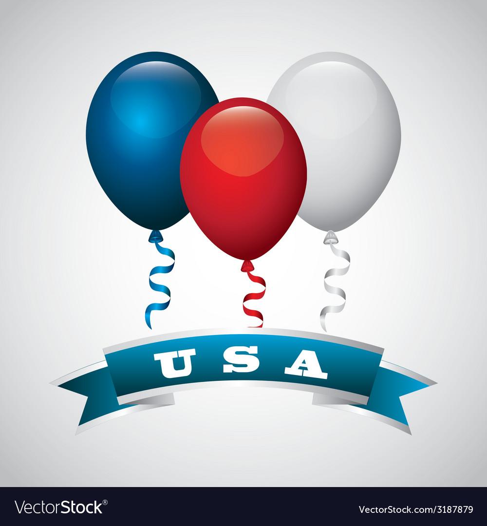 Usa celebration design vector | Price: 1 Credit (USD $1)