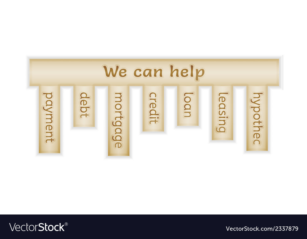 Wooden label with we can help vector   Price: 1 Credit (USD $1)