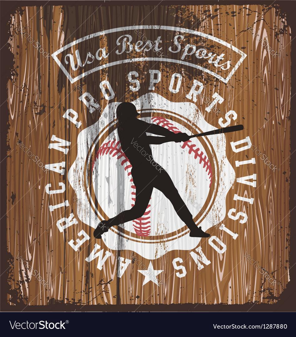 Baseball wood board vector | Price: 1 Credit (USD $1)