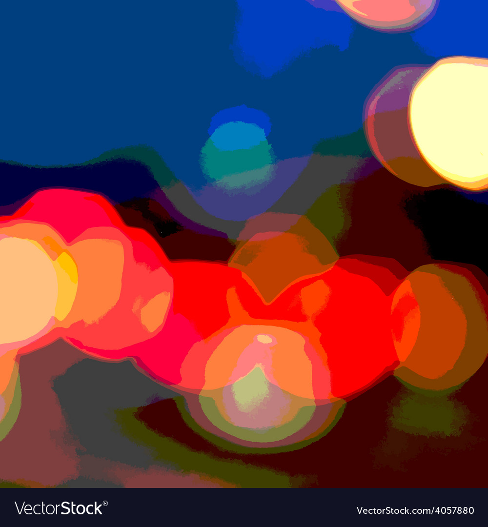 Bokeh posterized vector | Price: 1 Credit (USD $1)