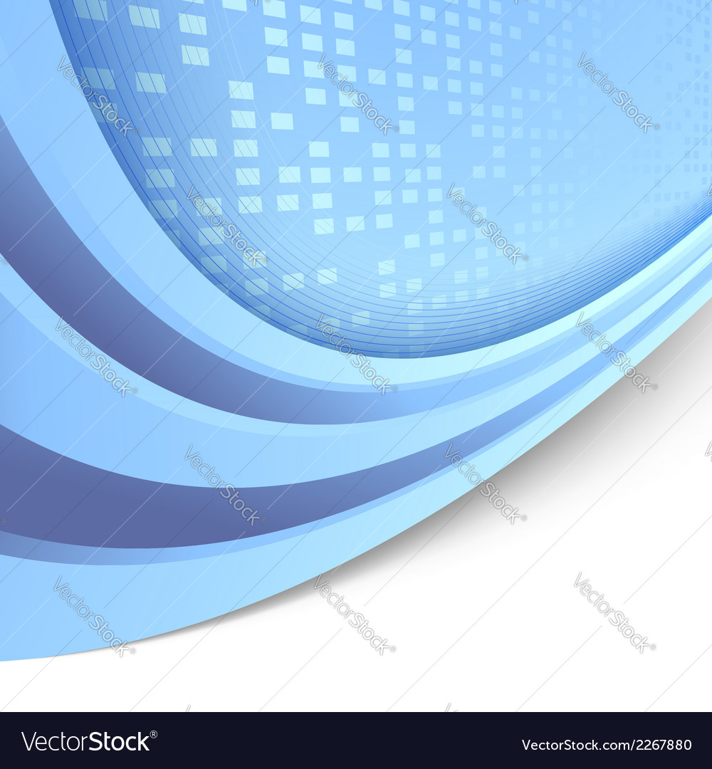 Folder abstract tile blue template vector | Price: 1 Credit (USD $1)