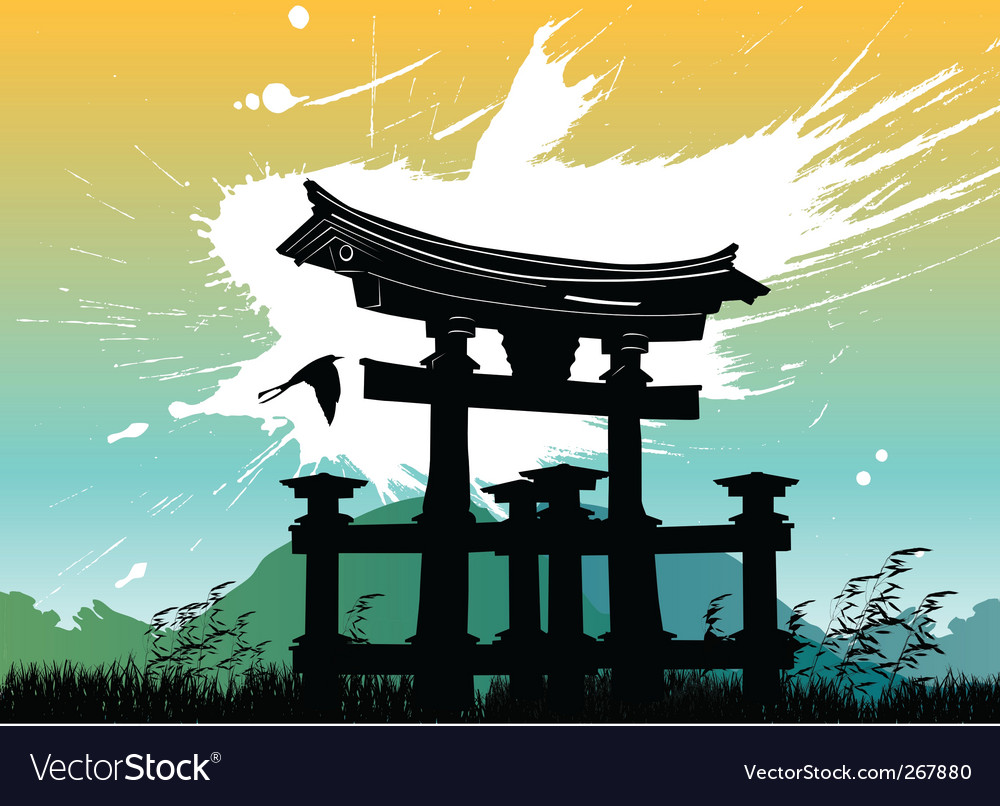 Japan temple vector | Price: 1 Credit (USD $1)