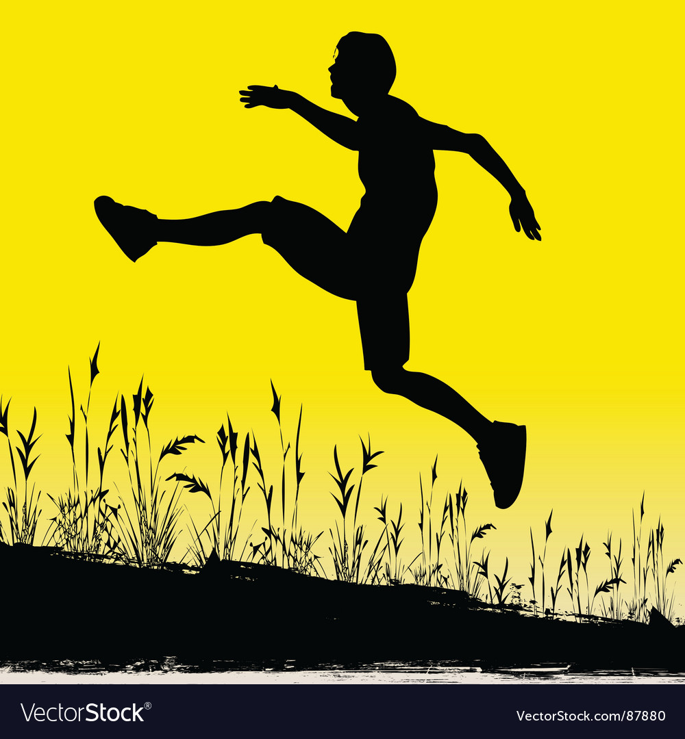 Jumping for joy vector | Price: 1 Credit (USD $1)