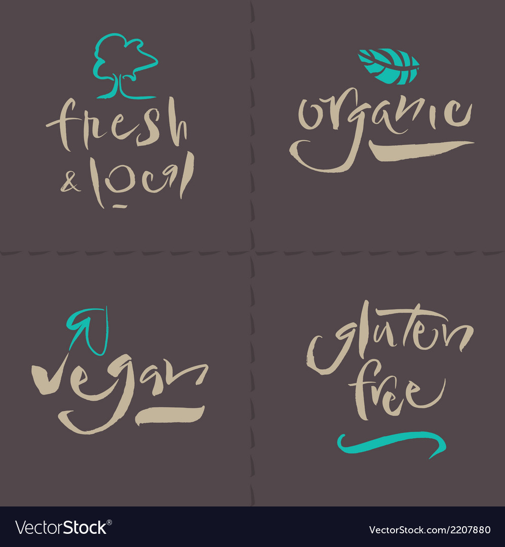 Organic local gluten vegan vector | Price: 1 Credit (USD $1)