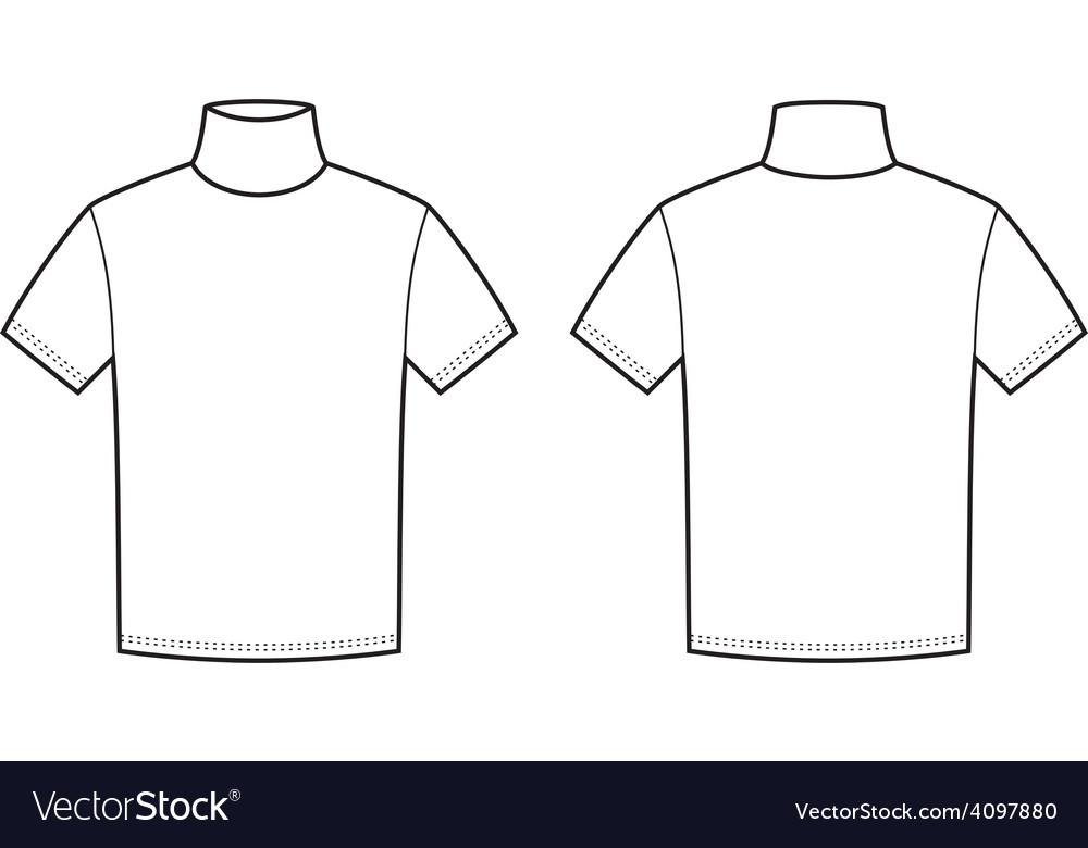 Short-sleeve turtleneck vector   Price: 1 Credit (USD $1)