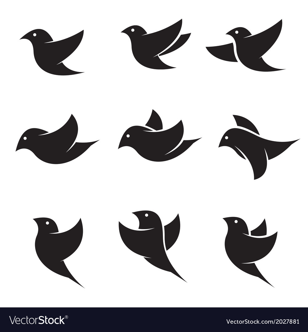 Bird icons vector | Price: 1 Credit (USD $1)