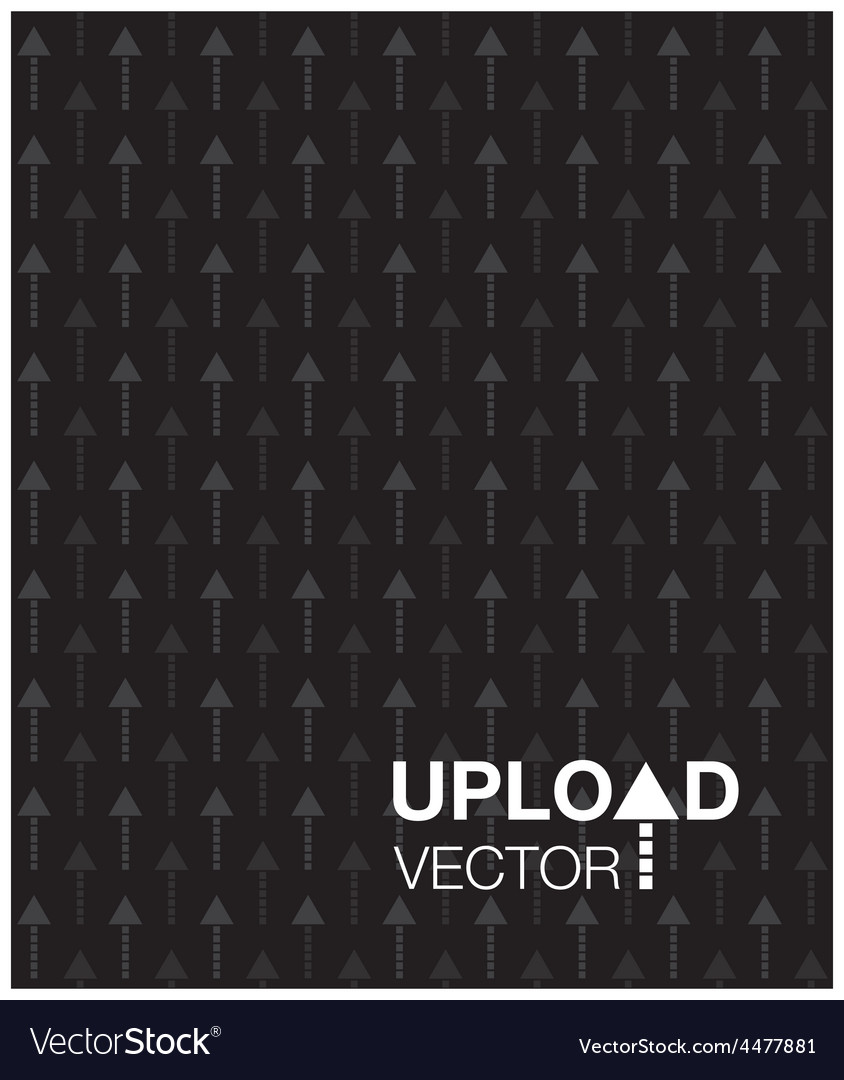 Black upload background vector | Price: 1 Credit (USD $1)