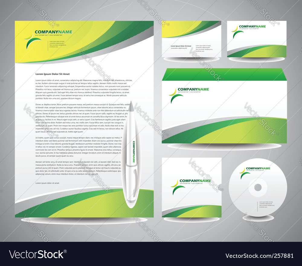 Business stationery template vector | Price: 1 Credit (USD $1)
