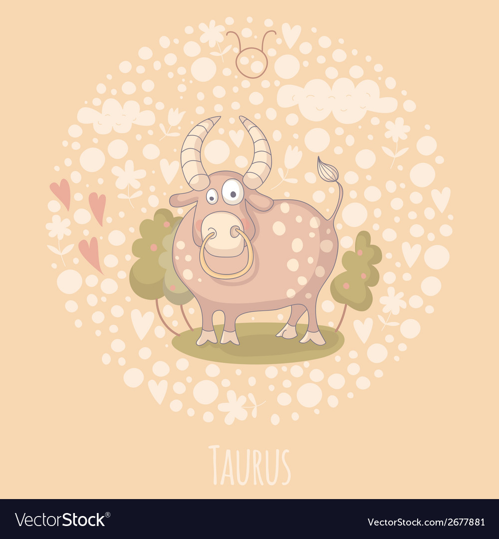 Cartoon of the bull taurus vector | Price: 1 Credit (USD $1)