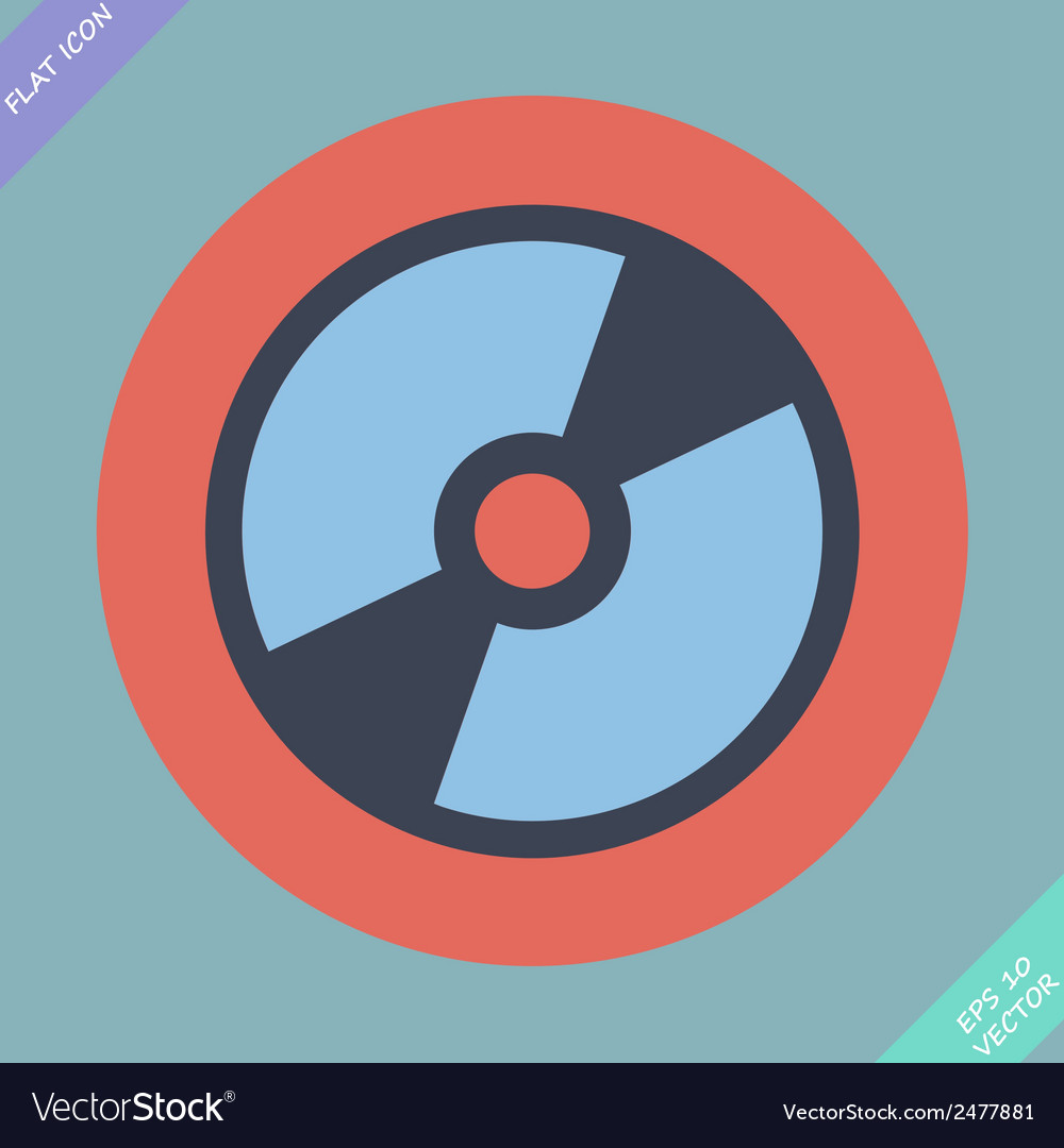 Cd or dvd icon - vector | Price: 1 Credit (USD $1)