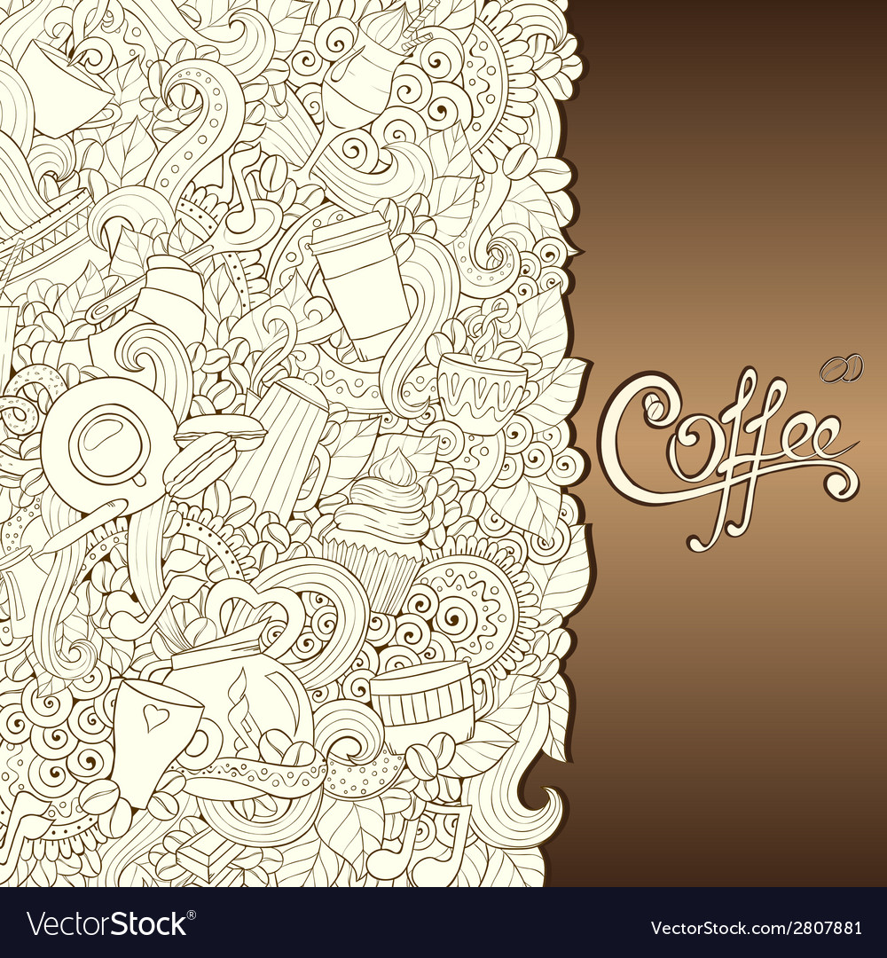 Coffee hand-drawn vector | Price: 1 Credit (USD $1)