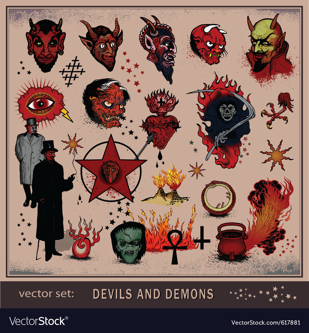 Devils and demons vector | Price: 3 Credit (USD $3)