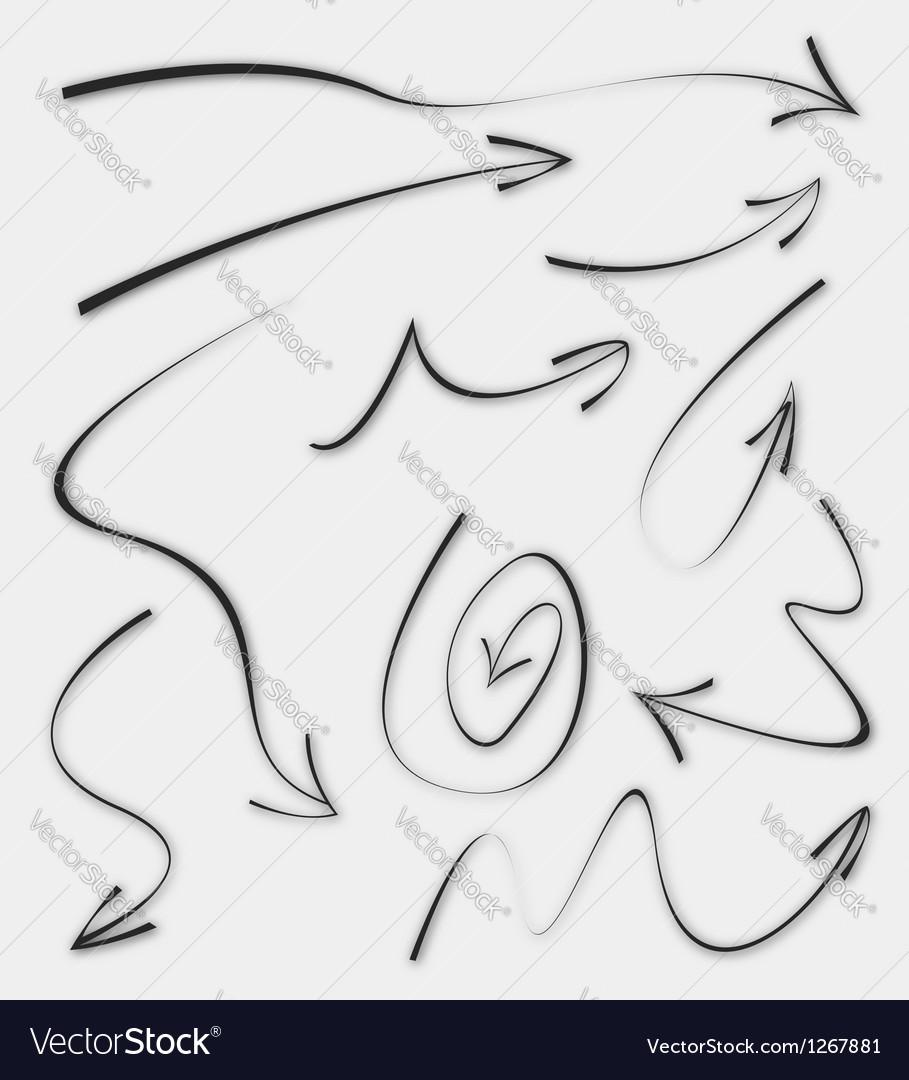 Doodle sketch arrows vector | Price: 1 Credit (USD $1)
