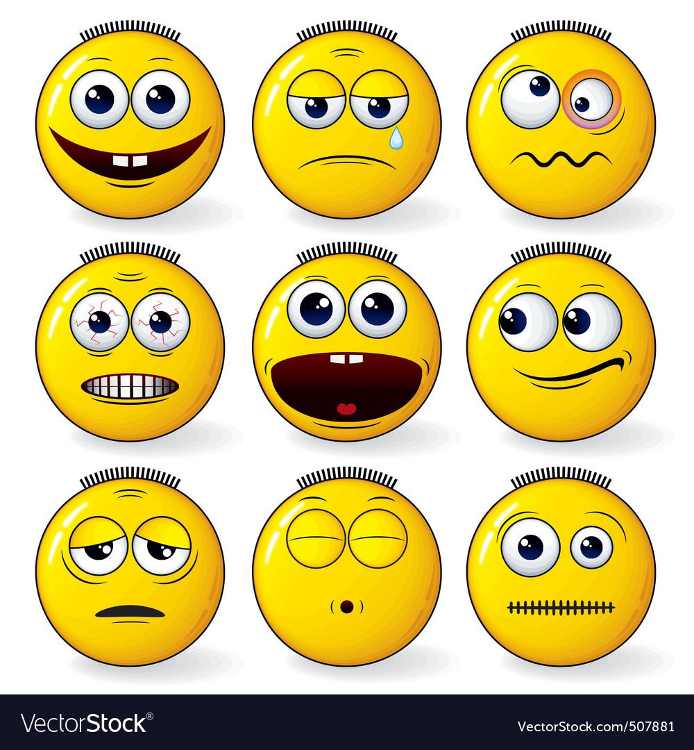 Fun smileys vector | Price: 1 Credit (USD $1)