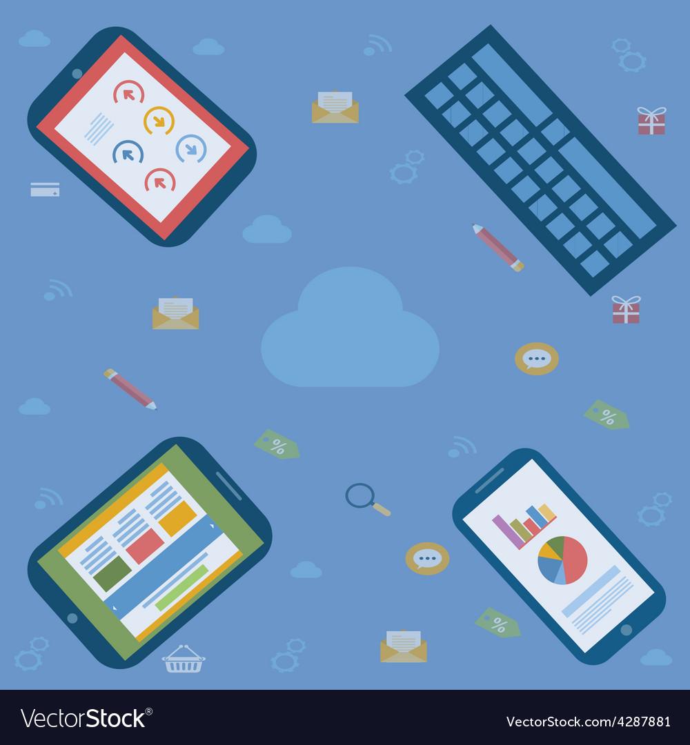 Internet multiple platform vector | Price: 1 Credit (USD $1)