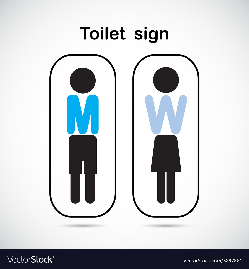 Man and woman toilet sign vector | Price: 1 Credit (USD $1)