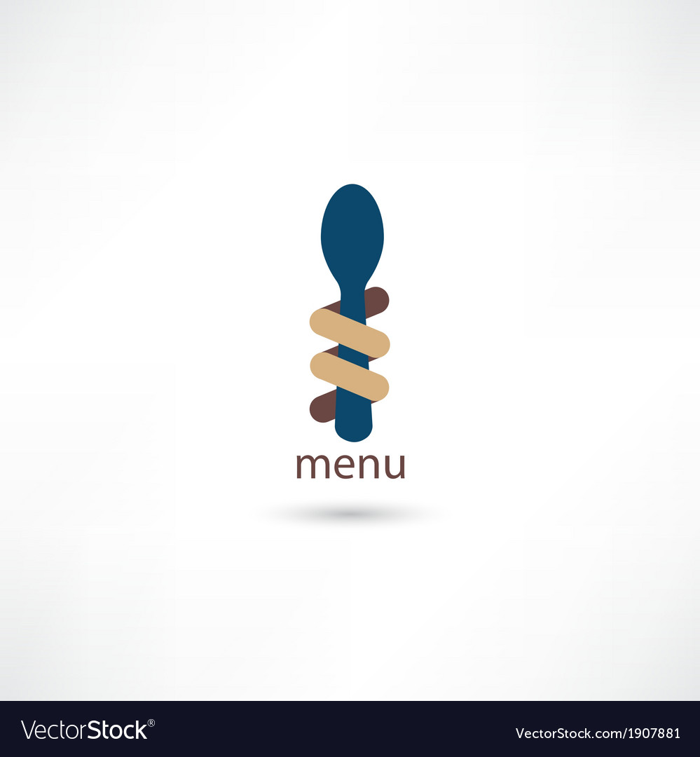 Spoon and fork around it vector | Price: 1 Credit (USD $1)